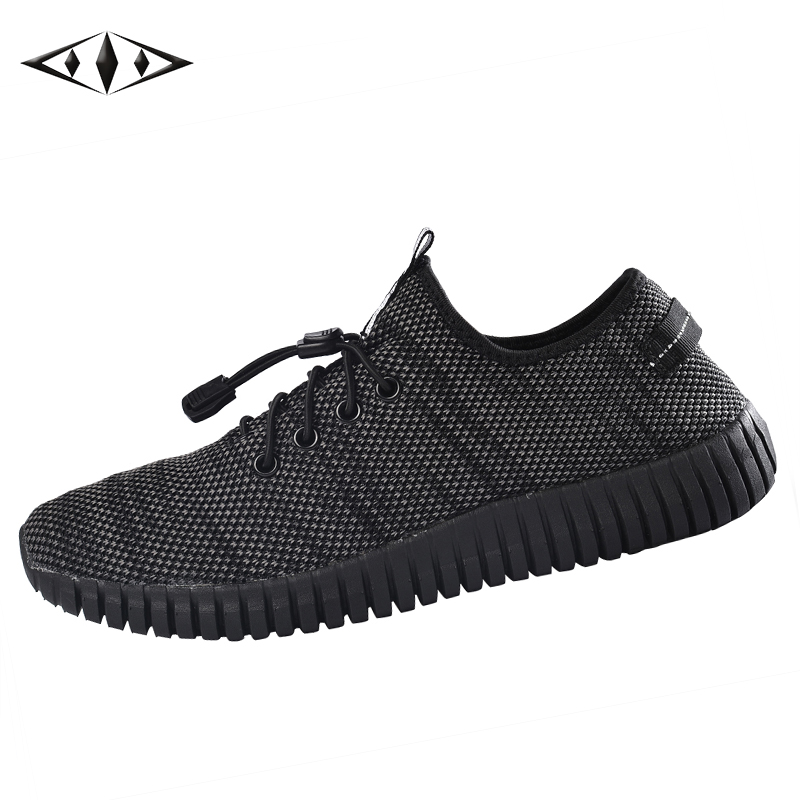 <font><b>LEMAI</b></font> Pure Style Running Shoes For Men Summer Autumn Outdoor Sport Sneakers Fashion Boy Black Shoes Breathable Trainers 162M-3