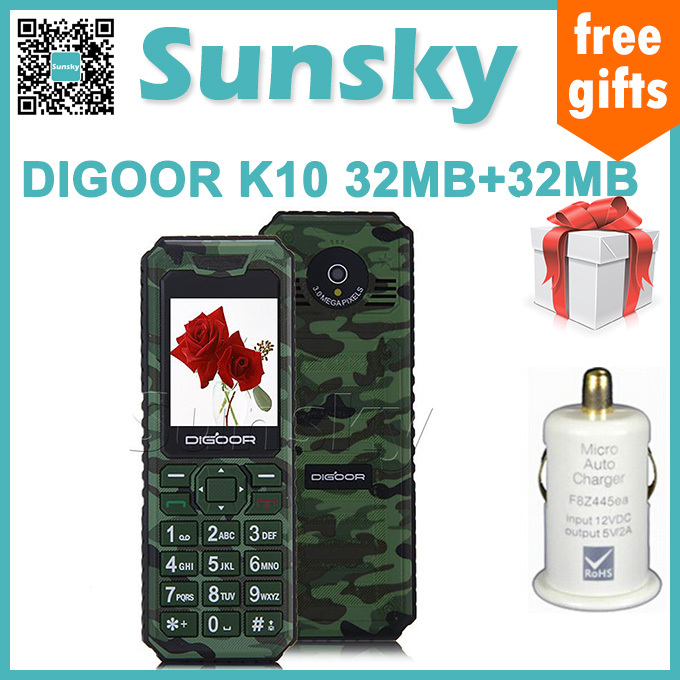 Original New DIGOOR K10 1.77 inch SC6531DA GSM GPS WiFi Bluetooth 32MB+32MB Function phone dual SIM Mobile Phone(China (Mainland))