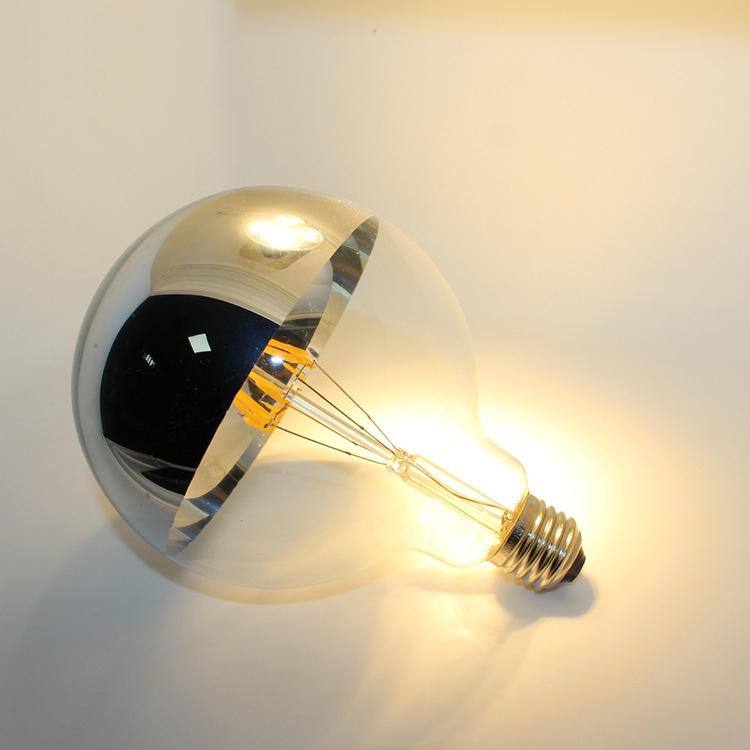 Free shipping 120v G30 G95 E26 4w 6w top LED silver tip filament bulb lamp filament Retro Shadowless lamp high brightness light(China (Mainland))