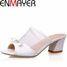 ENMAYER Women Sandals Summer Shoes High Heels Peep Toe Square Heel Slides Platform Sandals Sexy Platform Sandals(China (Mainland))