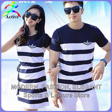 Fashion Couple Clothes Lovers T Shirts Men Women Summer Valentine's Day Casual Beach Wear Cute Korea Matching Couple Shirts 2210(China (Mainland))