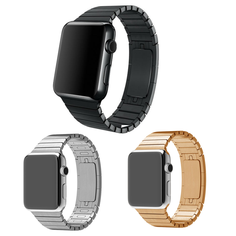 3 color High Quality 316L Stainless Steel band link bracelet &amp; Luxury stainless Metal strap for apple watch 38mm/42mm Watchband<br><br>Aliexpress