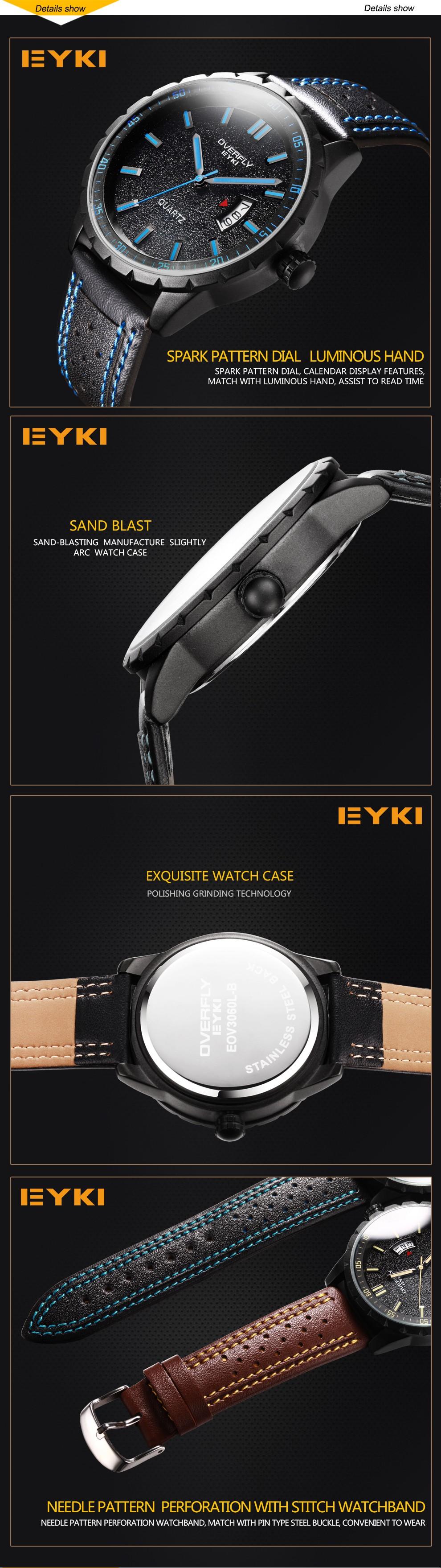 Мода Повседневная Красочные Военные Люди Вахты 2016 EYKI Марка Спортивные Часы Люксовый Бренд Швейцарский Стиль Военные Часы relogio masculino