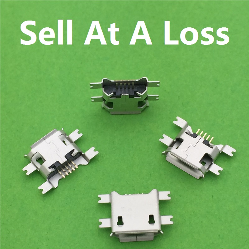 10pcs/lot 5pin Female Micro USB Connector Socket G22 SMD 4 feet Widely Used In Tablet Phone PDA Charging Free Shipping(China (Mainland))