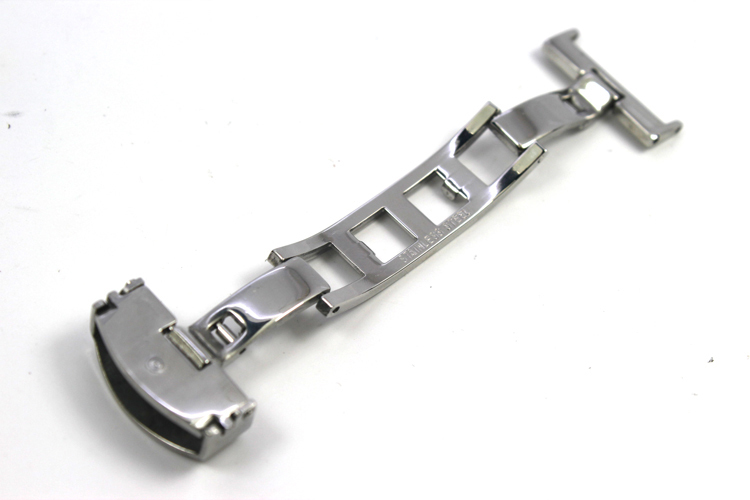 ZLIMSN 16mm Solid Stainless Steel Watchbands Fold Butterfly Deployments Watchband BANDS Straps Clasps Bu K01(China (Mainland))
