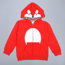 6ocs/lot Boys Fox Hoodie boys coat kids clothes all for children's clothing and accessories boy jacket children jacket 2016(China (Mainland))