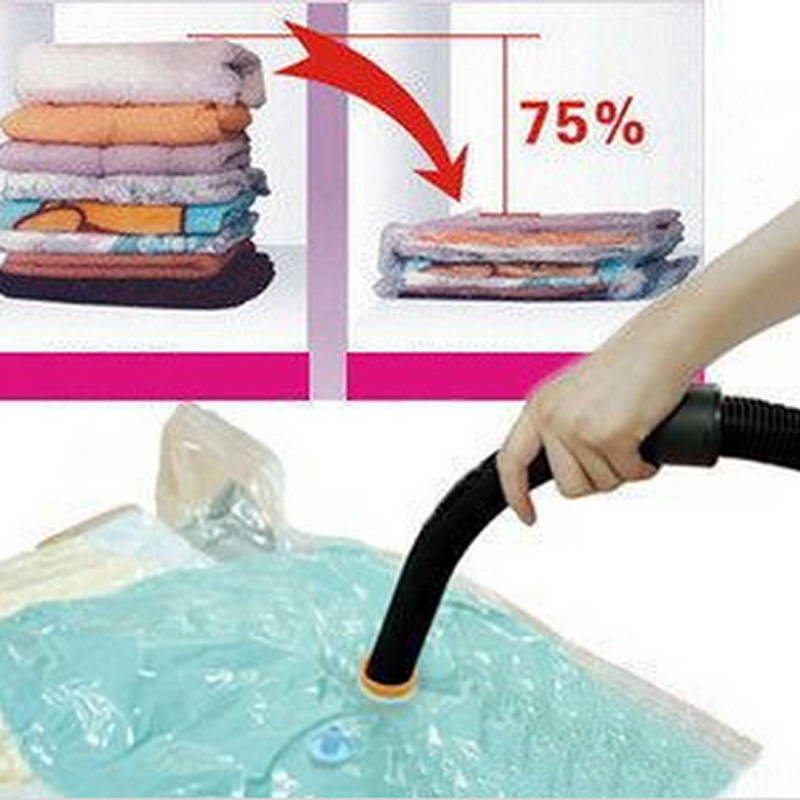 Free shipping Hot Sale Large Space Saver Saving Storage Bag Vaccum Seal Compressed Organizer Wholesale and retail R-002(China (Mainland))