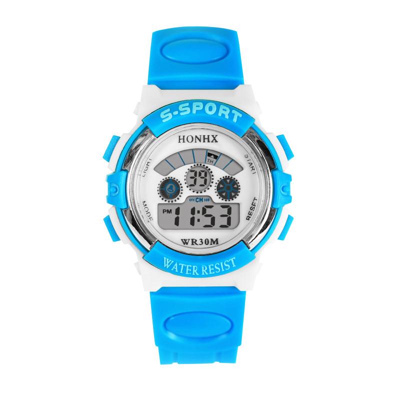 2016 Hot, Nueva Popular 1 pc Kids Sports Digital LED Watches Alarm Date Rubber children boy girl Wrist Watch Sport Clocks(China (Mainland))