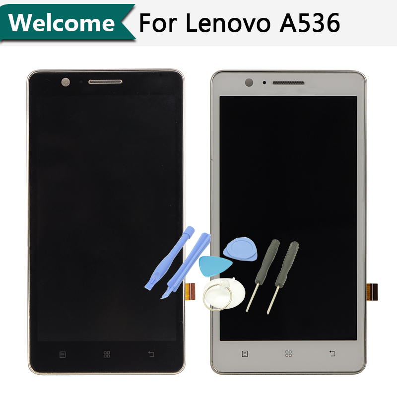 Original FOR Lenovo A536 LCD Display Digitizer touch Screen Assembly +Tools  free shipping