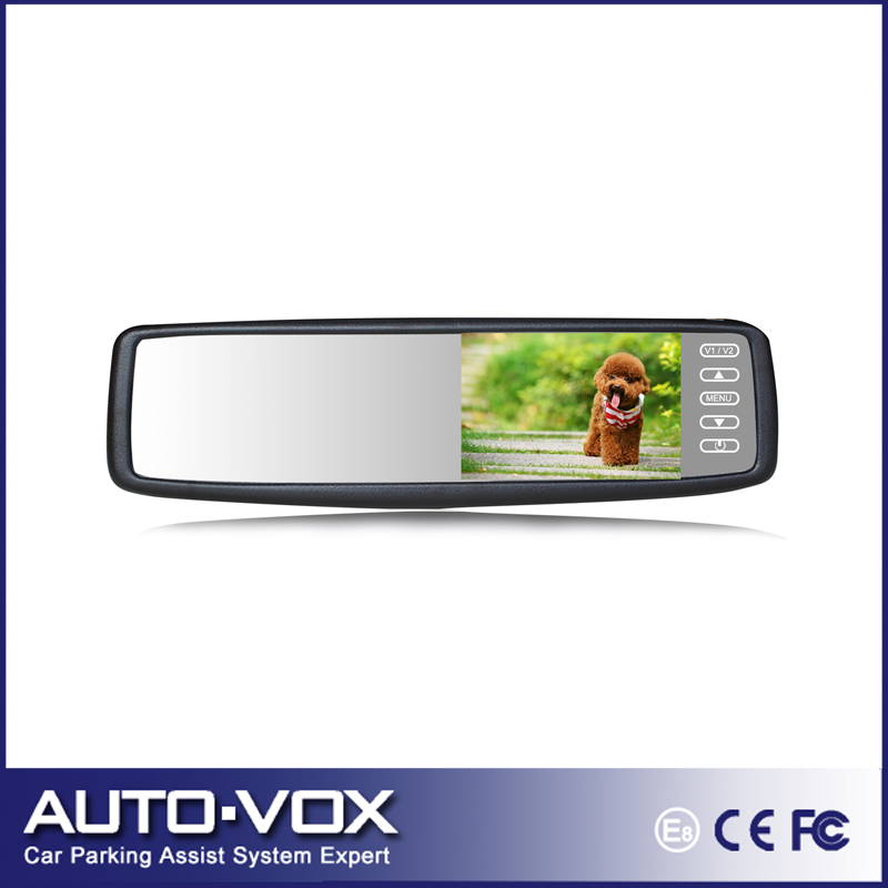"Universal Car Automatically Switch Reversing Mirror Monitor 4.3"" TFT LCD Button Touch Control Screen Rear View Mirror Monitor(China (Mainland))"