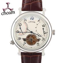 CHOAM Germany watches men luxury brand classic tourbillon automatic mechanical retro steel multifunction relogio masculino