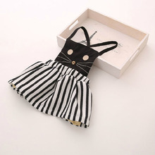 Free shipping,Hot sale 2015 child clothing ,Casual,baby girl clothing,kitty,Summer autumn cat dress,Korean,girl dress(China (Mainland))