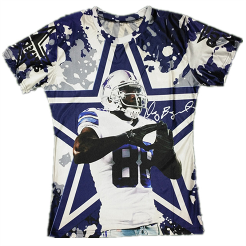So Cool!!!Dallas Football 88 Star Funny 3D Teeshirts Dez Bryant Printed T Shirts Men/women Graphic Fashion Tops O-neck T-shirts(Hong Kong)