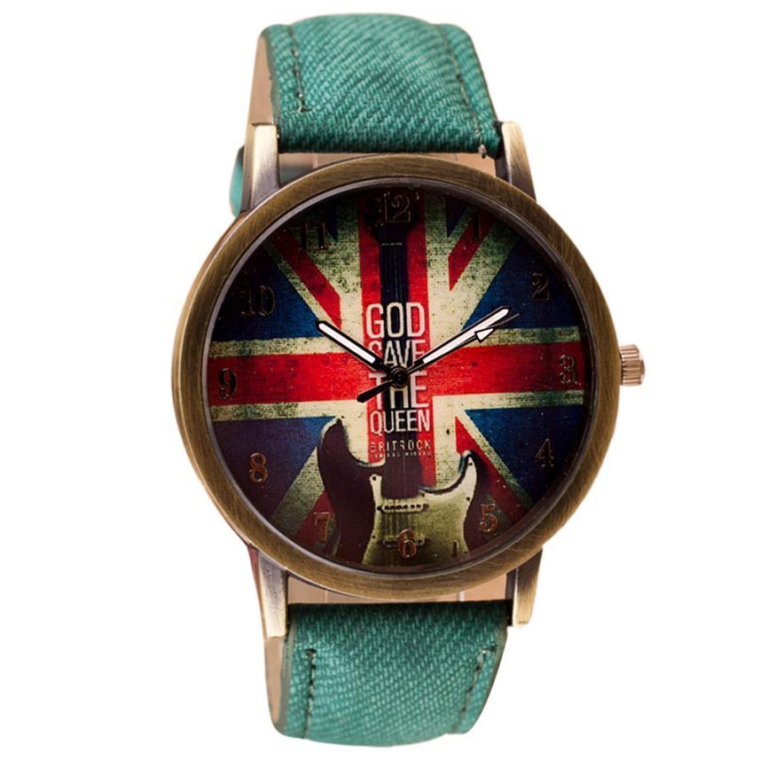 Newly Design Retro Britain UK Watch Unisex PU Leather Quartz Watches Oct8 <br><br>Aliexpress