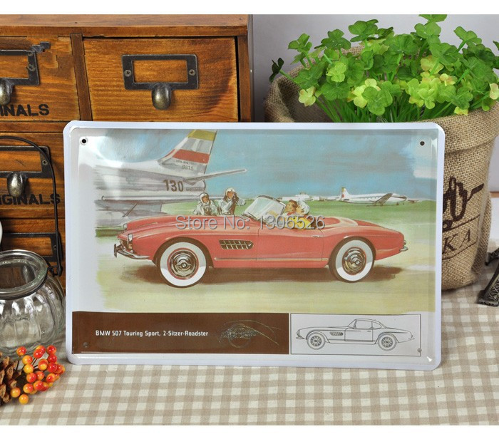 Vintage Car Styling Home Decor Wall Decals Kids Wall