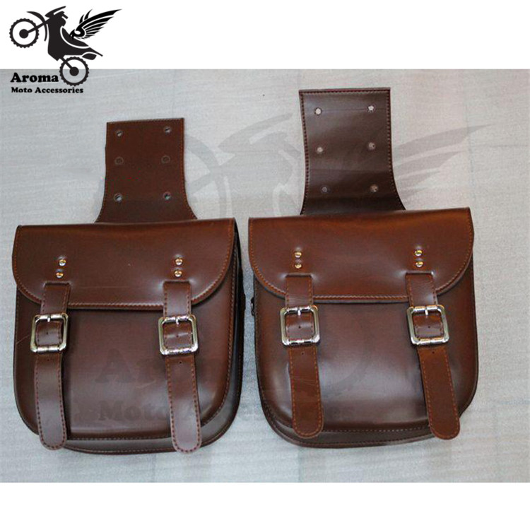 2 Colors Brown Black Durable Motorcycle Motorbike Pu