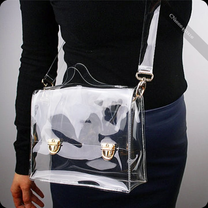 New Fashion PVC Transparent Bag Clear Handbag Tote Shoulder Bag Cross Bag(China (Mainland))