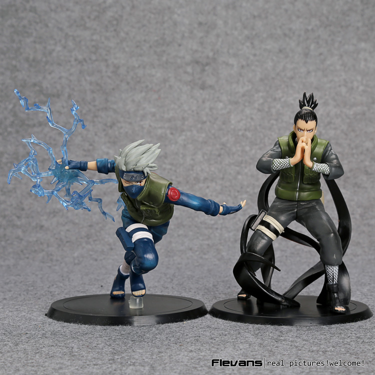 Anime Naruto Nara Shikamaru + Hatake Kakashi PVC Figures Toys 15cm 2pcs/set NTFG099<br><br>Aliexpress