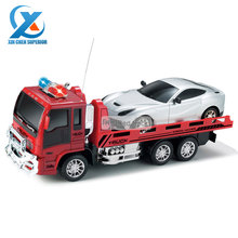 Simulation 4CH Model RC Trailer Fire Truck Children Electric Remote Control Toy Truck Car Vehicle Toys for Kids Fast Shipping(China (Mainland))