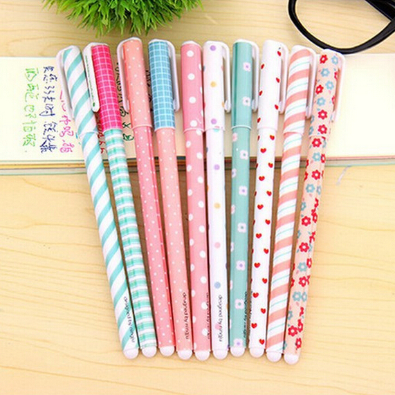 10 pcs/lot New Colorful Cute Cartoon Gel Pen Set Kawaii Korean Stationery Creative Gift School Supplies Free shipping 000(China (Mainland))