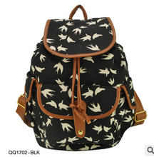 2016 New Arrival Animal Print 3 Colors Charming Backpack For Girl School Rucksack Shoulder Bags Promotion Bolsas Dropshipping(China (Mainland))