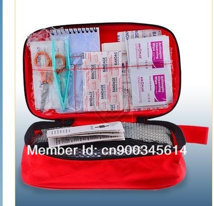 Free shipping 50pcs waterproof car first aid kit/family first aid kit,CE&FDA APPROVED(China (Mainland))