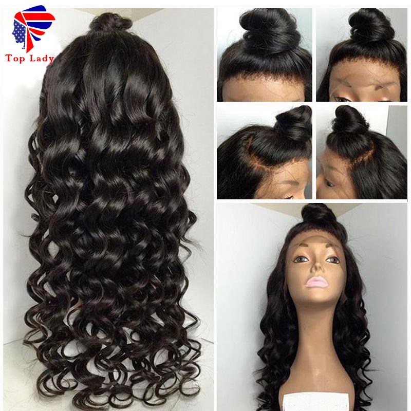 7A Body Wave Glueless Full Lace Wigs Unprocessed Brazilian Virgin Hair Bleached Knots Full Lace Human Hair Wigs For Black Women<br><br>Aliexpress