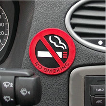 Hot Selling 1pc Rubber NO SMOKING Sign Warning Logo Stickers Car Taxi Door Decal Badge Sticker Promotion(China (Mainland))