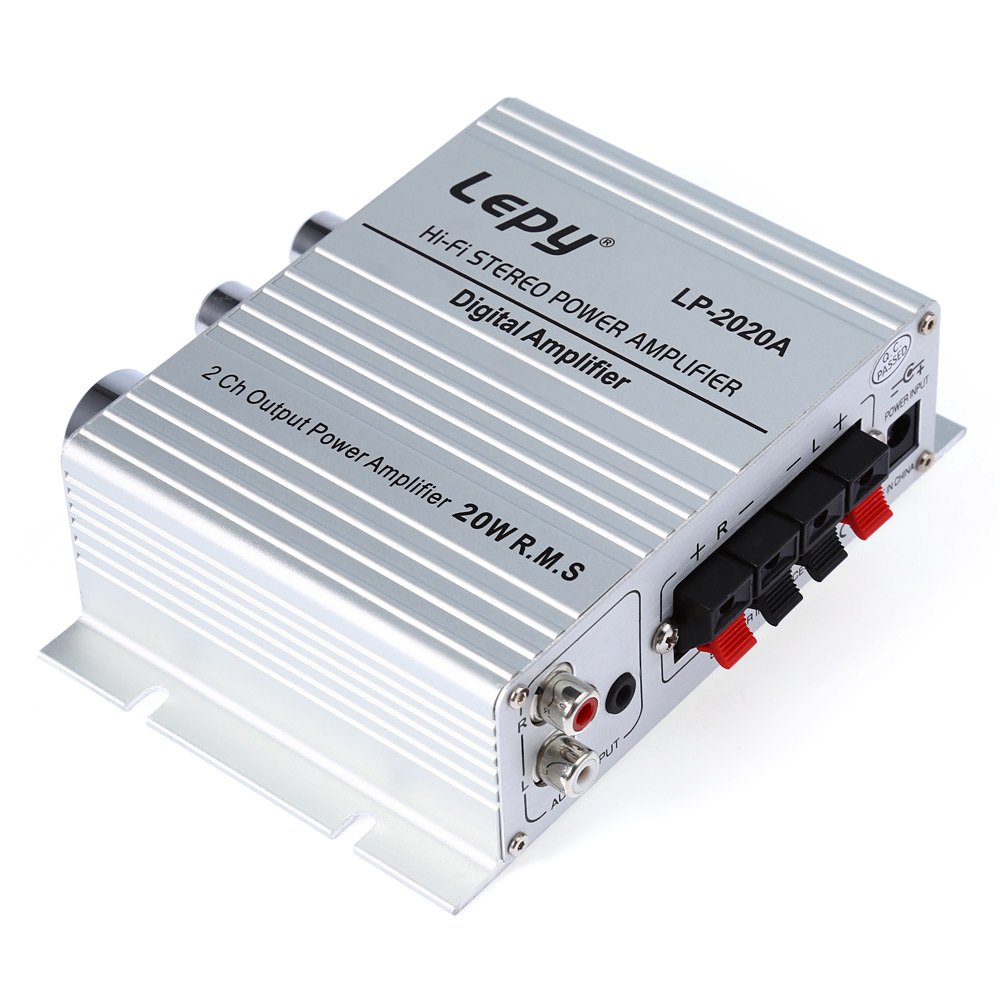 UK Plug Lepy LP - 2020A HiFi Digital Stereo Amplifier with Over-current Protection Multiple Audio Inputs(China (Mainland))
