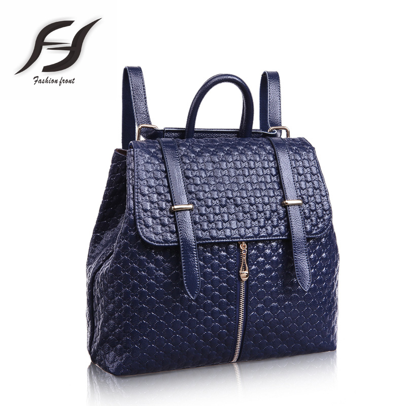 Preppy Style  Ling plaid backpack women small female genuine leather  backpack leather mochilas infantis  backpack school