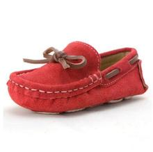 NEW Spring/Autumn Moccasins Children Shoes Nubuck Leather Slip-On Loafers Kids Flats Bowtie Baby Toddler Shoes Boys Girls 02