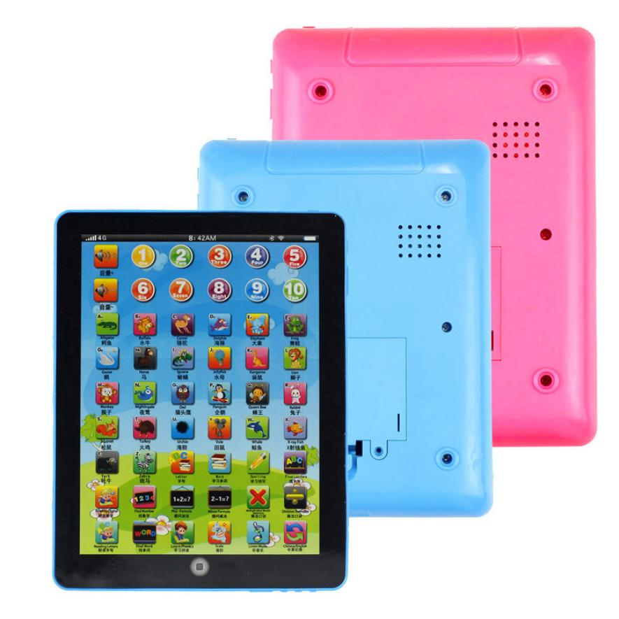 Modern Child Kids Computer Tablet Chinese English Learning Study Machine Toy Learning Machine Educational Toys(China (Mainland))