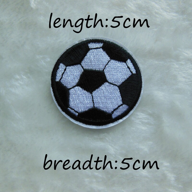 Cheap High quality 1PCS soccer ball patch Clothing accessories Embroidery Applique Decoration Accessories Hotfix C212(China (Mainland))