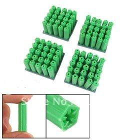 Гаджет  500 Pcs Green 8mm Plastic Screw Fixing Wall Plugs None Аппаратные средства