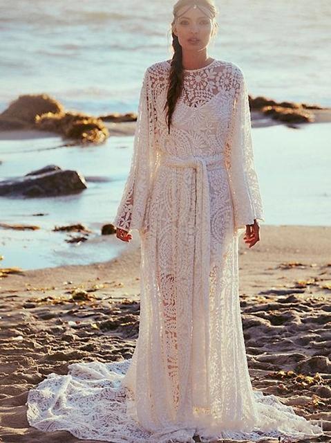 Long white beach dress plus size