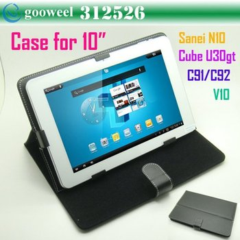 Free Shipping Universal 10 Inch Tablet Case Leather Pouch Cover Case with Stand for 10 inch 10.1 inch ALL Tablet