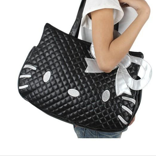 Women's Casual Shoulder bag Hello kitty Fashion Handbag Girls Lovely Satchel bags Women PU leather Shoulder Bags(China (Mainland))
