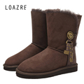 Genuine Sheepskin 100 Real Wools Natural Fur Shearling Warm keep Comfortable women winter snow metal decoration