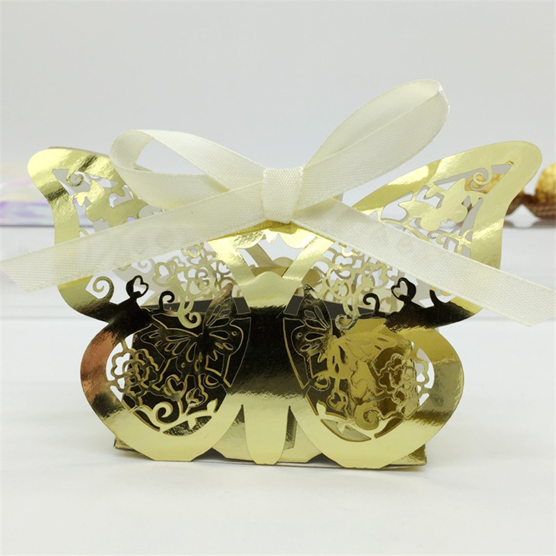 Aliexpress Buy Laser Butterfly Candy Box Wedding Favors Gifts Box Souvenirs Invitation