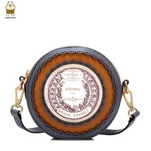 Ladies Handbags 2015 Brand Vintage circle Messenger Bag Pu Leather Solid Small Shoulder Mini bag Crossbody