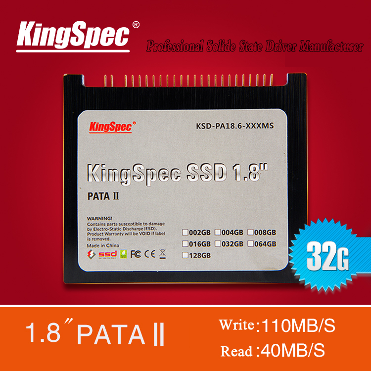 """KingSpec 1.8"""" 32GB SSD ,44PIN 2-Channel PATA IDE SSD ,Solid State Disk , Solid State Hard Drive for laptop/IBM X40 X41 X41T(China (Mainland))"""