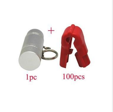 Free shipping Retail display Hook Stop Lock for security display hook 100pcs stop lock+1pc magnetic detacher key(China (Mainland))