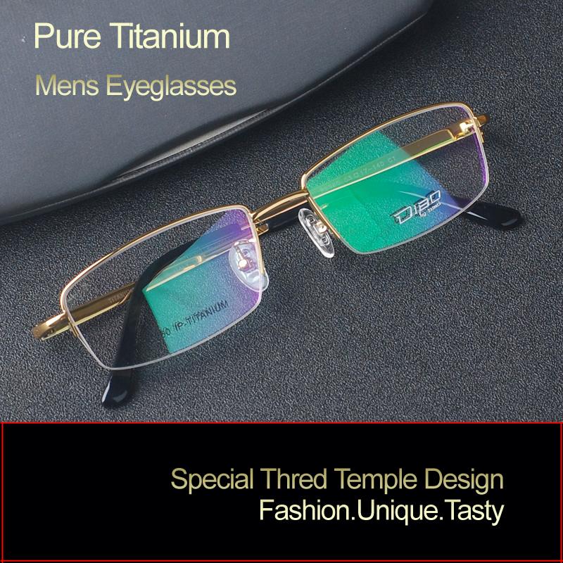 2016 new men pure titanium glasses frame half rim optical frame fashion business models RS960 gold grey reading clear glassesОдежда и ак�е��уары<br><br><br>Aliexpress