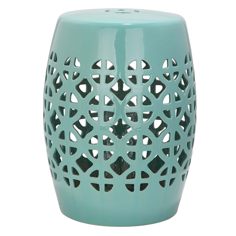 Hollow Chinese New Design Ceramic Stool Home Decoration