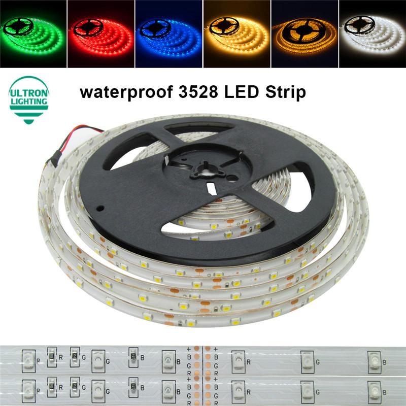 5M 300Leds waterproof RGB Led Strip Light 3528 DC12V 60Leds/M Fiexble Light Led Ribbon Tape Home Decoration Lamp(China (Mainland))