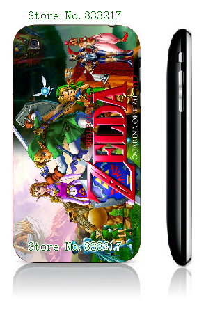 1pcs/lot retail 20designs hybrid Legend of zelda stained glass hard plastic back cover case for iphone 3gs,free shipping(China (Mainland))