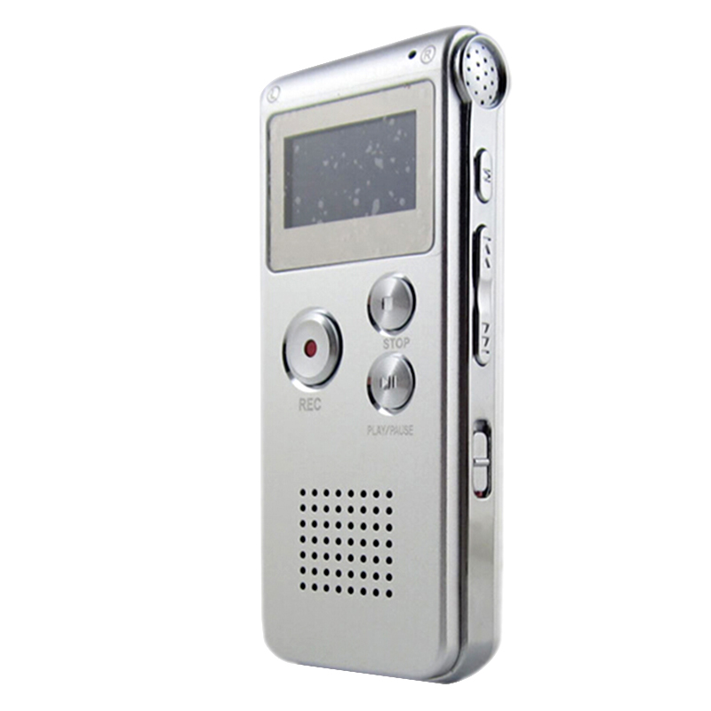 New Rechargeable 8GB 650Hr Digital Audio/Sound/Voice Recorder Dictaphone MP3 Player(Silver)<br><br>Aliexpress