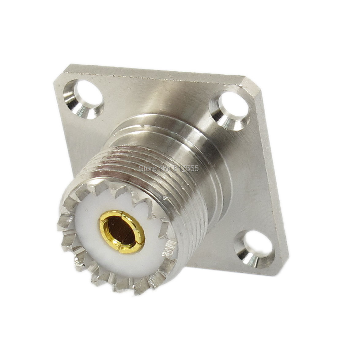 UHF Female SO239 Panel Chassis Mount Flange Deck Mount Solder Cup RF Connector Discount 50(China (Mainland))