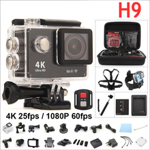Buy Original H9 Action camera 4K WIFI Ultra HD 1080p 60fps 2.0 LCD 170D Go waterproof mini Cam pro sports camera gopro hero 4 style for $42.31 in AliExpress store