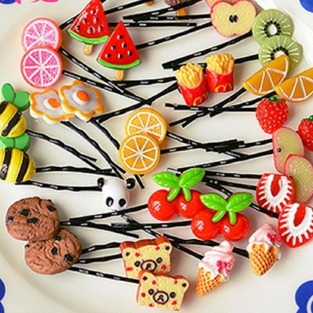 Детей девушки милые головные уборы фрукты инструменты для завивки заколки-пен шпилька ...
